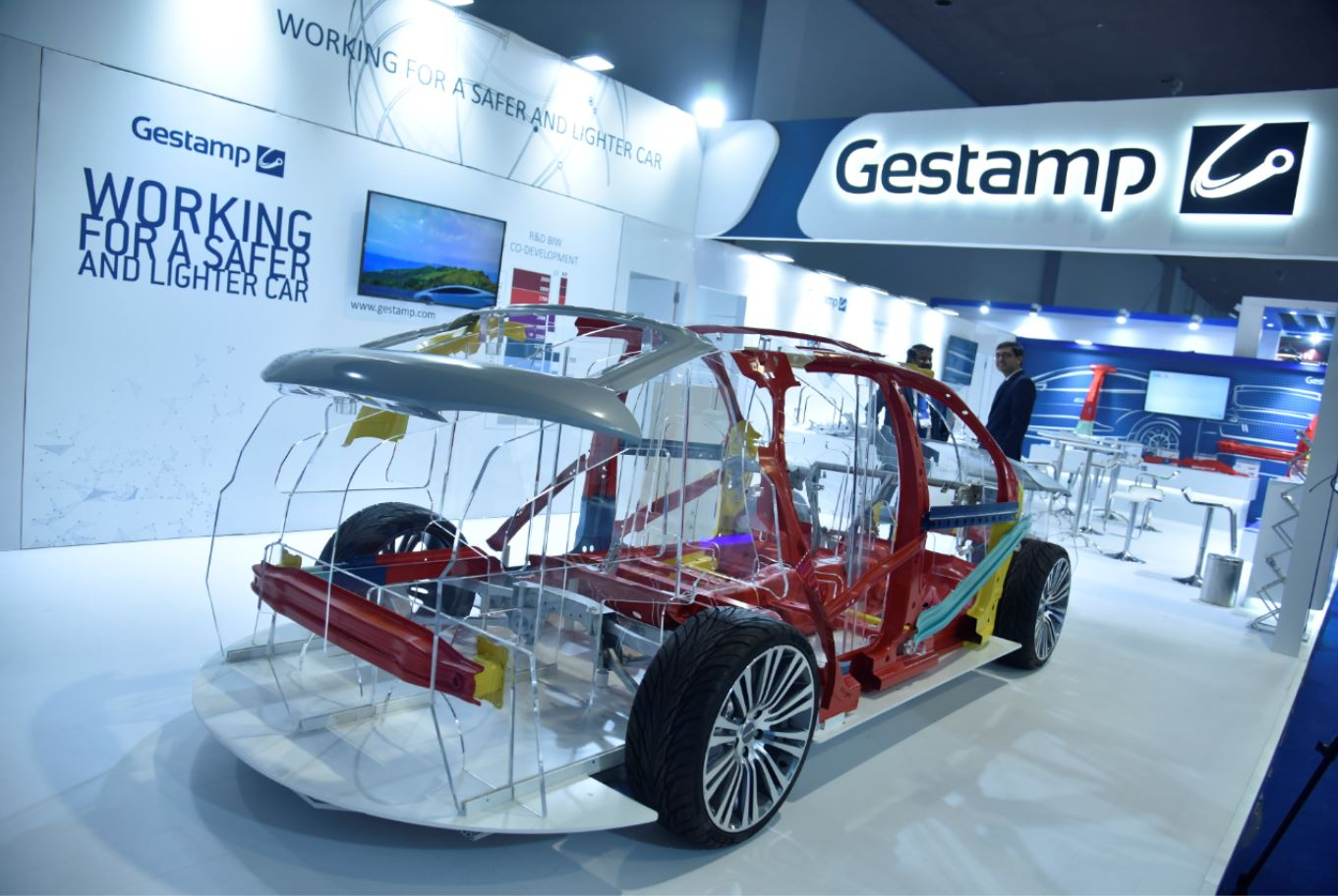 Stand de Gestamp en Auto Expo New Delhi 2020